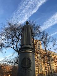 Dzerzhinsky é dos poucos en conservar o seu pedestal