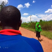 En bici taxi por Ruanda.