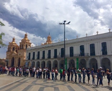 Praza San Martín cos edificios da catedral e do cabido.