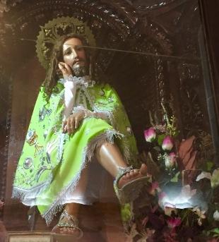 Curiosa imaxe de Cristo na igrexa do Carmo