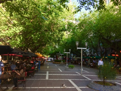 Calle Sarmiento no seu tramo peonil.