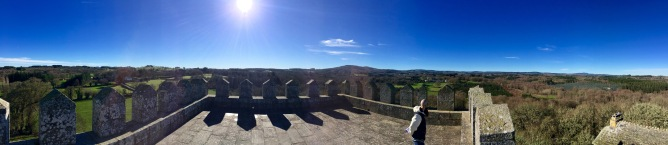 Vista dende o alto da fortaleza