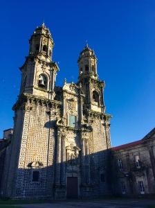 Fachada da igrexa do mosteiro de Sobrado