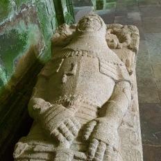 Cadaleito na igrexa de Sobrado