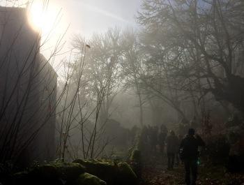 Santa María de Pesqueiras entre a néboa