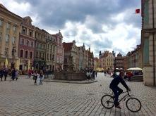 Praza no casco vello de Poznan (Polonia)