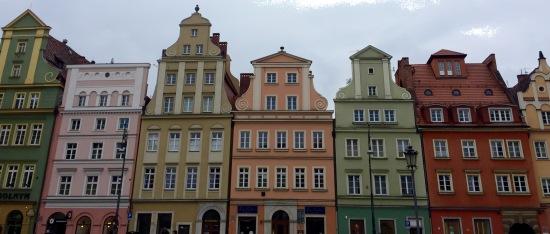 Fachadas en Wroclaw