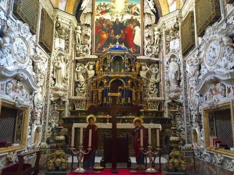 Interior da igrexa da Martorana
