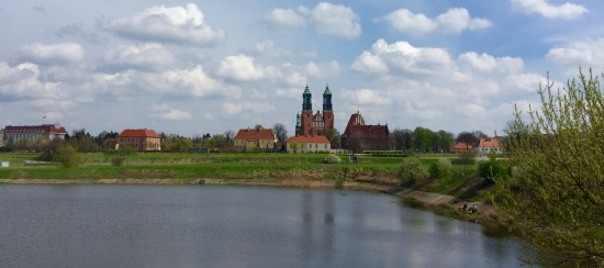 Catedral no barrio de Ostrów Tumski en Poznan