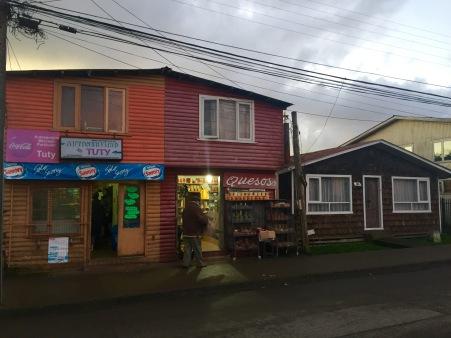 Rúa en Dalcahue