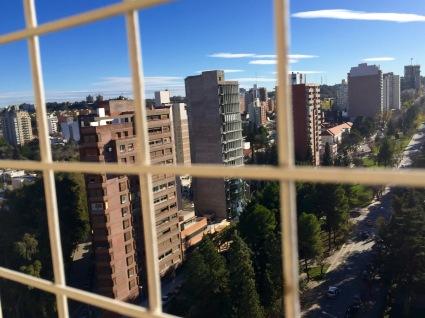 Aspecto de Neuquén dende o meu hotel