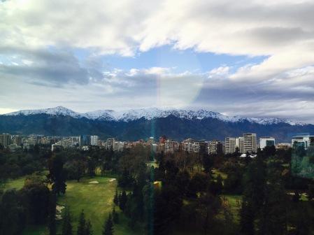 Santiago de Chile dende o cuarto do hotel
