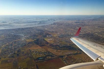 Rosario e o Alto Delta do Río Paraná dende o avión