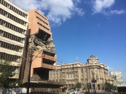 Efectos dos bombardeos da OTAN en Belgrado