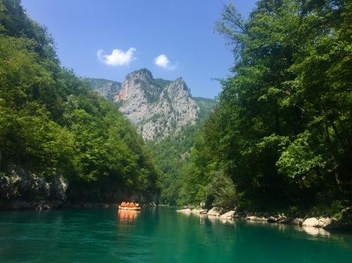Rafting no canón do río Tara