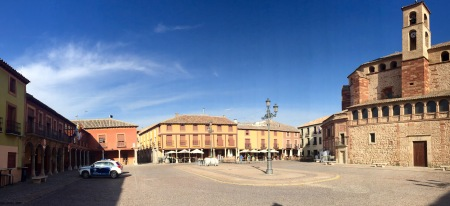 Praza principal en La Solana