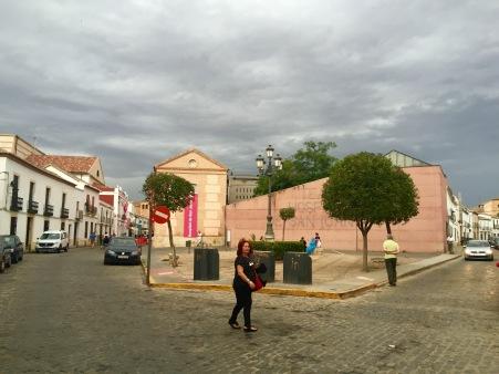 Chelo e o Hospital de San Juan ao fondo