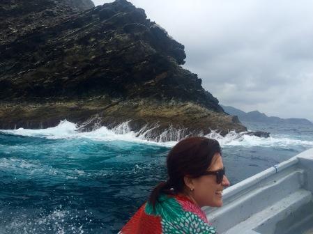 María Fernanda, a faladora compañeira de excursión
