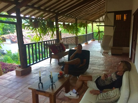 Varanda no Hotel Achiotte