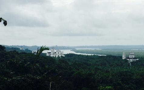Velha Goa dende a igrexa de Nosa Señora do Monte