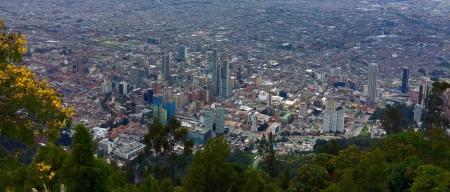 O val de Bogotá dende Monserrate