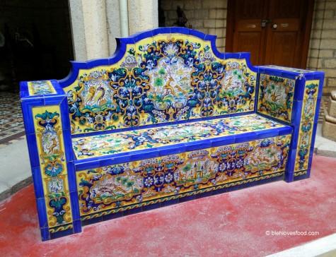 Azulexos agasallo de Alfonso XIII (imaxe cortesía de Google)