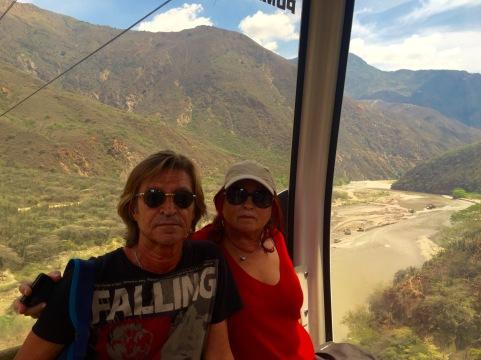 Fernando e Chelo no teleférico