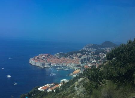 Chegando a Dubrovnik