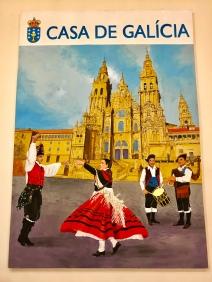Cartel antigo na Casa de España en Curitiba (Brasil).